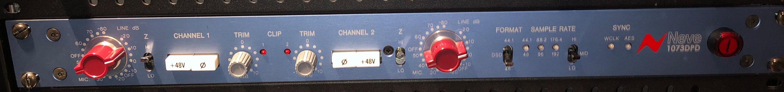 Neve 1073 DPD: 'The' Pre-Amp! Foto: privat