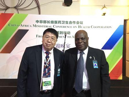 Professor Ma with Dr. Rufaro R. CHATORA, World Health Organization Representative to South Africa