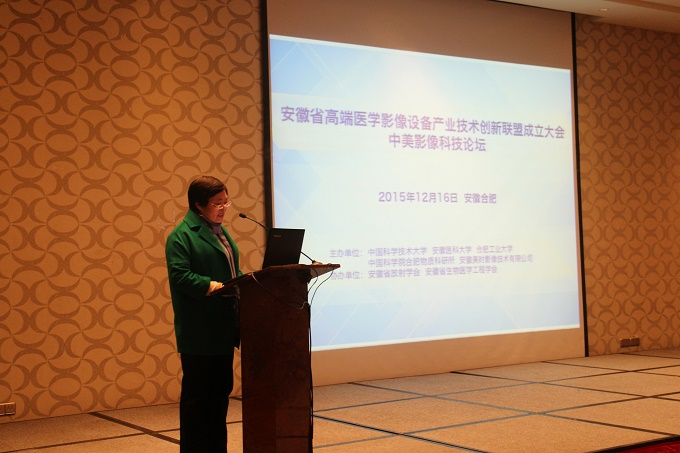 Deputy Officer of Anhui Health and Family Planning Commission, Jingyu Wu, delivering a speech