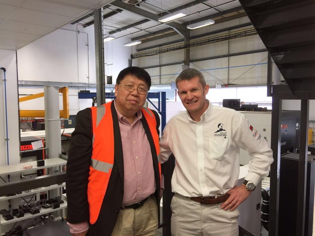 Professor Ma and CEO of Polar, Scott