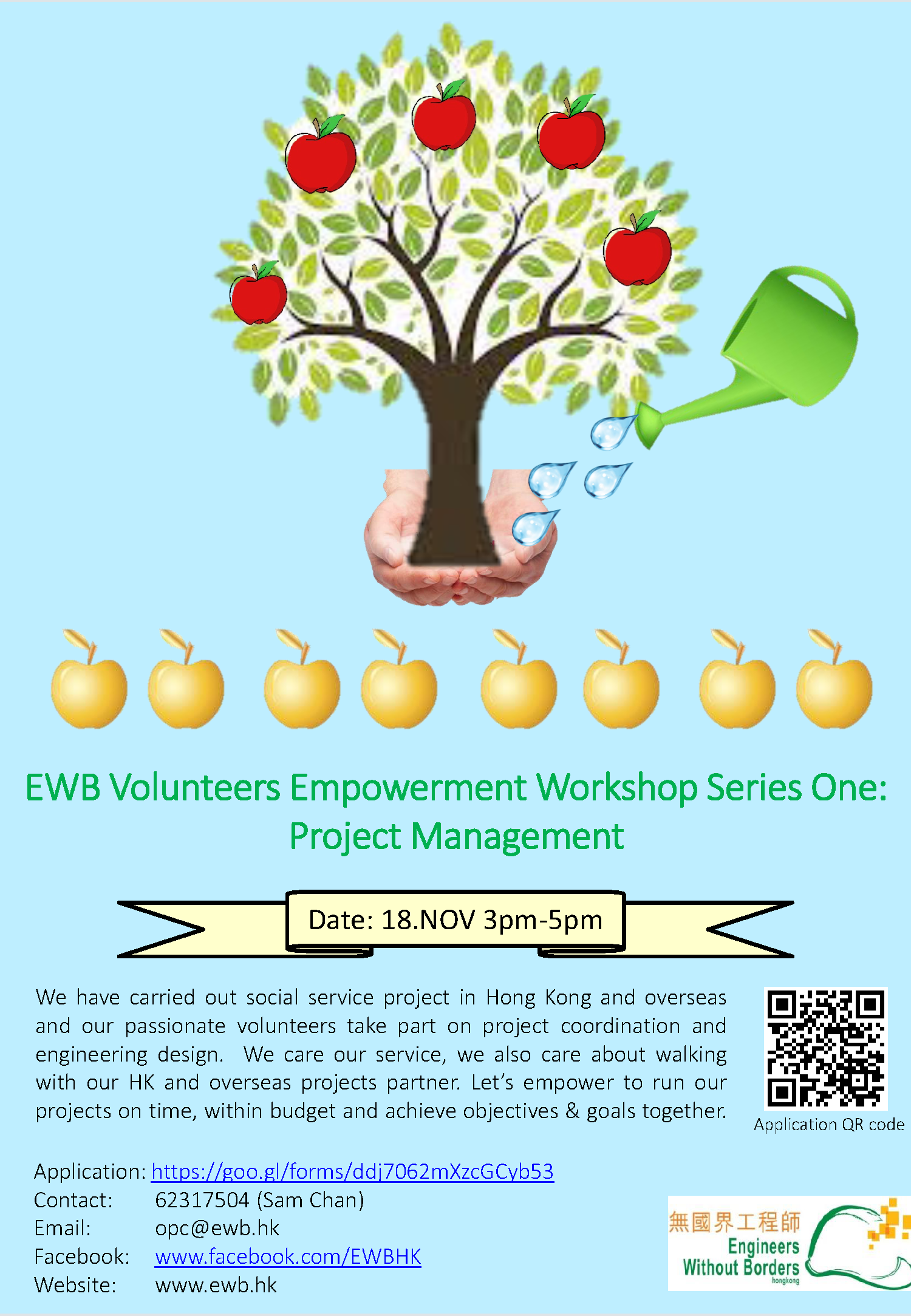 20181118 Volunteer Empowerment Workshop Series One - PM poster.png