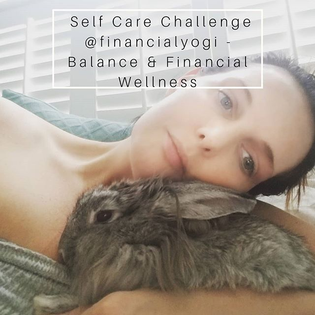 Day 2 of Self Care is a Discipline Challenge  @financialyogi  says the balancing act between living for today and saving for tomorrow is not an easy one!  But working hard to achieve your financial goals doesn't mean that you can't enjoy life!  Here are some easy ways to have fun, that don't require a lot of money: *Visit the public library to check out books, movies, and free events. *Spend time outdoors at a park, going for a walk, gardening, or taking a hike. *Take turns hosting dinners with friends, or have a potluck, board game, or karaoke night. *Sign up to be a volunteer at your favorite charity.  Today's Challenge: Post a picture that shows  your favorite (free or frugal) way to have fun!  Here's mine: CUDDLING I love to cuddle, hug, you name it! And my fur babies are the best cuddle buddies. This is my bunny April🐰🐇 Not pictured is Miles and he's my other cuddle bud🐕🐕 EXTRA BONUS: If you visit www.financial-yogi.com  and subscribe to the monthly newsletter, she'll send you a FREE Budget Worksheet!  Be sure to tag hosts @knoxyj @financialyogi @greensagelife and sponsors @prakazita @yoga_seva_retreats in your post, and use the hashtag #selfcareisadiscipline  #instagramchallenge  #balance #igchallenge #selfcare #discipline #financialadvisor #lasvegasfinancialadvisor #cfp #certifiedfinancialplanner #retirement #retirementplanning #collegesavings #lifeinsurance #ira #401k #roth #invest #moneytips #financialfreedom #finance #financialyogi #ashtanga #ashtangi #mysore #personalfinance #planforyourfuture #moneytalks #financialplanning @laurverona