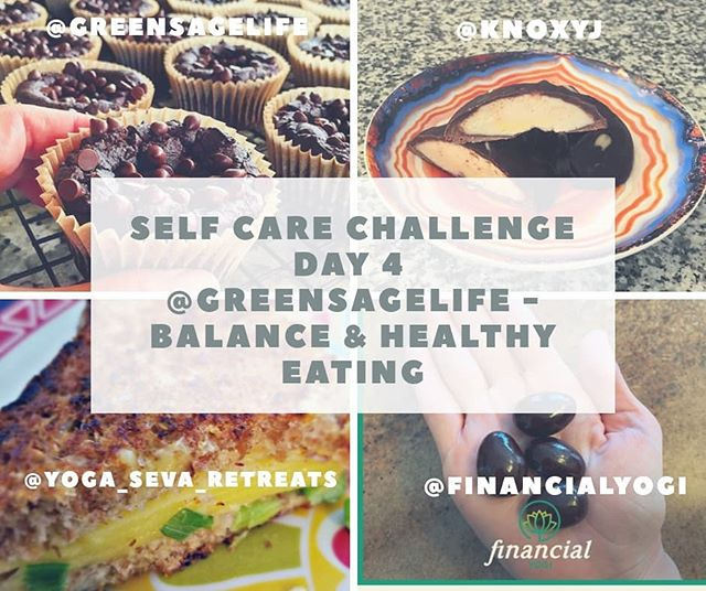"""Self Care Challenge  @greensagelife - Balance & Healthy Eating  When you're trying to eat healthfully, there can be a lot of pressure to be """"perfect."""" And while it's important to stick to your principles as consistently as you can, the occasional indulgence is perfectly wonderful, too.  Let's lose the """"guilt"""" surrounding a """"guilty pleasure."""" What we're going for here is balance, not perfection.  It's how you eat most of the time that matters most.  You can make your occasional treat even more wonderful by reserving it for special occasions. We tend to enjoy those indulgences more when they're rare, don't we? And when we give them our full attention.  Today's challenge: Share a photo of your favorite occasional treat and tell us when or how often you indulge.  Mine is a savory treat. Vegan Grilled Cheese! Sprouted grain sesame bread , tofu sliced cheese. Grilled scallions! So tasty😋😋😋 And to be honest,  I indulge probably too often 😅🤣 Be sure to tag the hosts (@knoxyj @financialyogi @greensagelife) and sponsors (@yoga_seva_retreats and @prakazita) in your post, and use the hashtag #selfcareisadiscipline #instagramchallenge #igchallenge #selfcare #findyourbalance #balanceddiet #strikeabalance #healthybalance  #plantbasedlife #healthyvegan #plantbasedlifestyle #healthysnacks #govegan #veganforhealth #veganforlife #veganforeverything #plantbasedinspiration #plantbasedeating #fruitlover #wholefoodplantbased #plantbasedhealth #plantbasedfood #eatmoreplants #vegancommunity #vegansnacks #eatbetternotless"""