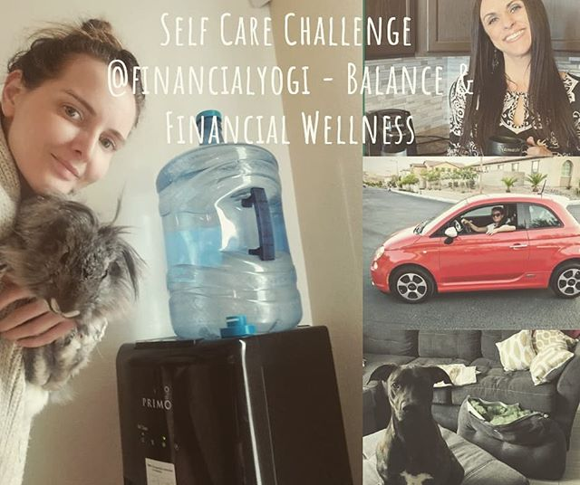 """Self Care Challenge  @financialyogi - Balance & Financial Wellness  @financialyogi says the words """"Balance your budget!"""" are likely to bring up feelings of drudgery for most of us. Probably, because we think of budgeting as a surefire way to take away our fun, and live within constraints. But, what if we started to associate balancing a budget with being in control and achieving our goals? Then maybe it could actually be sort of fun!  There are lots of easy ways to start making a budget without having to create some complicated spreadsheet. Here are a few easy tips to get started: *Figure out your income and expenses. *Start by downloading a pre-made budgeting worksheet or user friendly app. *Separate wants from needs and see where you can cut back if necessary. *Set realistic short and long term goals.  Most importantly, realize that budgeting is a work in progress, and celebrate your budgeting successes!  Today's Challenge: Share a budgeting success! Post a picture of one way you have already cut back on expenses.  Here's mine: I use refillable water bottles for all my water.  It's $1.25 to refill! Plus, it's so much better for the environment.  I highly encourage those that buy personal sized water bottles on the regular to invest in a cooler. Reduce waste and save money! April🐇 is pictured because she's cute. Your welcome ♡  EXTRA ADDED BONUS: If you visit www.financial-yogi.com and subscribe, you'll get a FREE Budget Worksheet!  Be sure to tag the hosts (@knoxyj @financialyogi @greensagelife) and sponsors (@prakazita @yoga_seva_retreats) in your post, and use the hashtag #selfcareisadiscipline #instagramchallenge #discipline #igchallenge #selfcare #balance  certifiedfinancialplanner #retirement #retirementplanning #collegesavings #lifeinsurance #ira #401k #roth #invest #moneytips #financialfreedom #finance #financialyogi #ashtanga #ashtangi #mysore #personalfinance #planforyourfuture #moneytalks #financialplanning"""