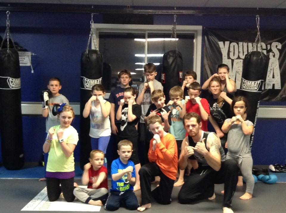 Kids Kickboxing - A mix of several disciplines such as grappling and kickboxing mixed with regular strength training and conditioning sequences. Typically begins at age 6, see Coach Young with questions.