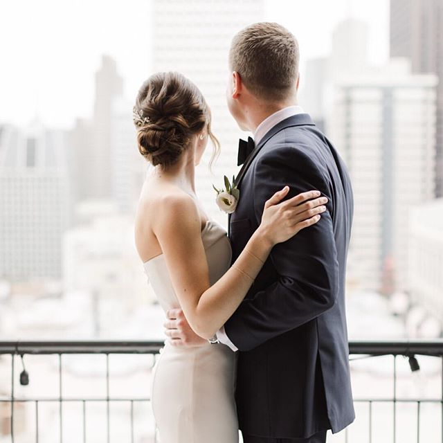 Looking into the future with True Love 💕  @gabbyllilly @mike_lilly ⠀⠀⠀⠀⠀⠀⠀⠀⠀ Dress:  @esteebridalcouture Suit: @generationtux Florals: @vandafloraldesign Hair Stylist: @sarahbridalbeauty Makeup: @rachel.rockwood.mua Venue: @uclubsf Photography: @TiffanyJPhotography ⠀⠀⠀⠀⠀⠀⠀⠀⠀