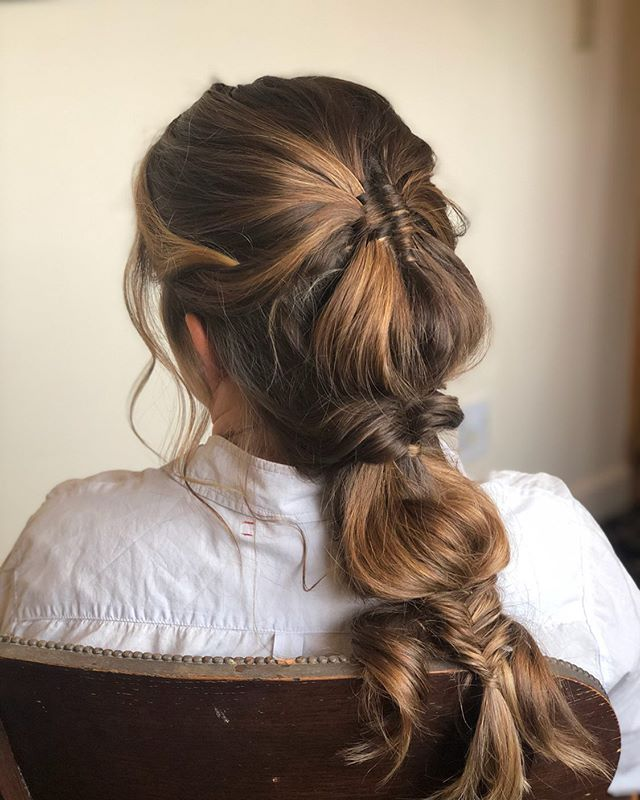 Had Fun Creating This Look ✨ Diamond 💎 Infinity Braid - TopsyTail - FishTail - Used @love_kevin_murphy Doo.Over, AntiGravity @biolage AntiFrizz Control, @hottoolspro CurlBar Wand . . . #sarahbridalbeauty #bridesmaidhair #weddinghair #bohohair #diamondbraid #topsytail #fishtailbraid #hottoolscurlbar #kenraprofessional #kevinmurphy #biolage #beyondtheponytail #thehideout #bayareahairstylist