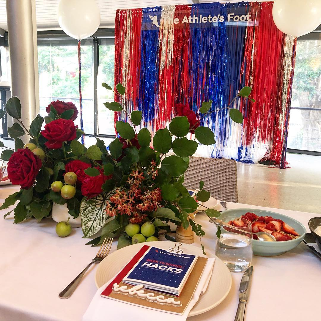 Super early start this morning to style _theathletesfootaustralia Back to School media breakfast. Couldn't have pulled it off without the help of _biophiliablooms magical floral work and _popette.studio for her spectacular tassel wall tha.jpg