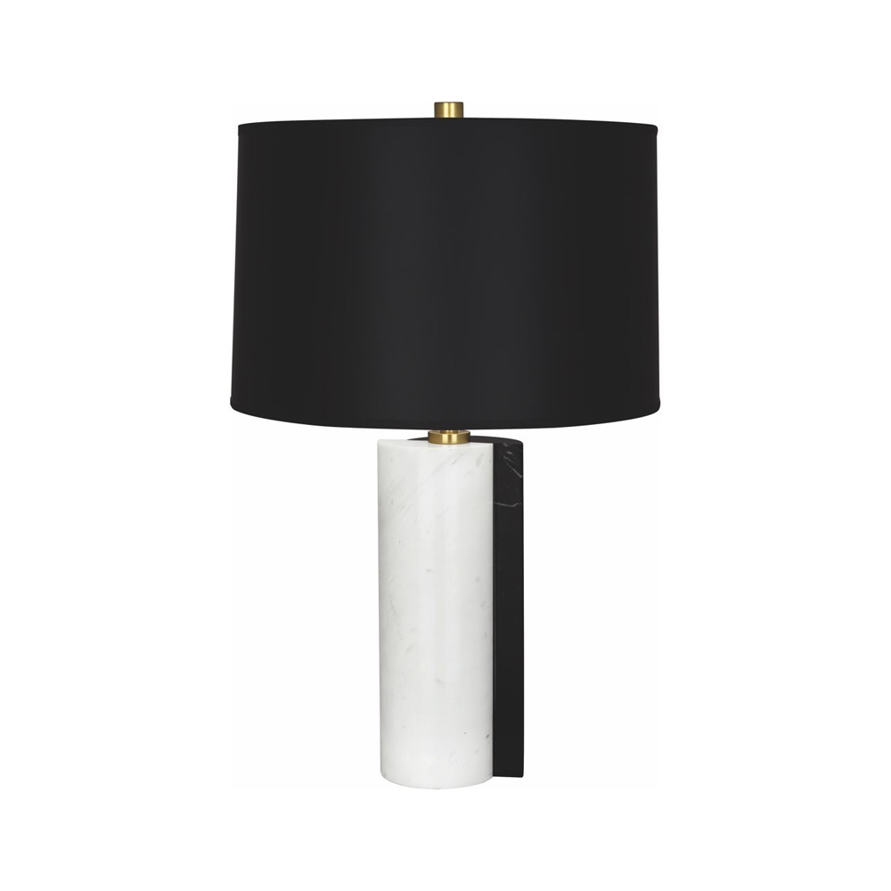 Robert Abbey Jonathan Adler Canaan Table Lamp in Carrara and Black Marble Base with Antique Brass Accents 889B  copy.jpg