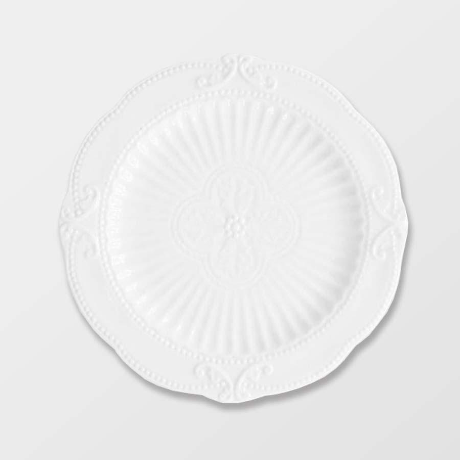 NORMAN MAIN | WHITE   Stoneware Size : Diam. 27 cm  IDR 10,000/per piece  Qty Available: 117 pcs