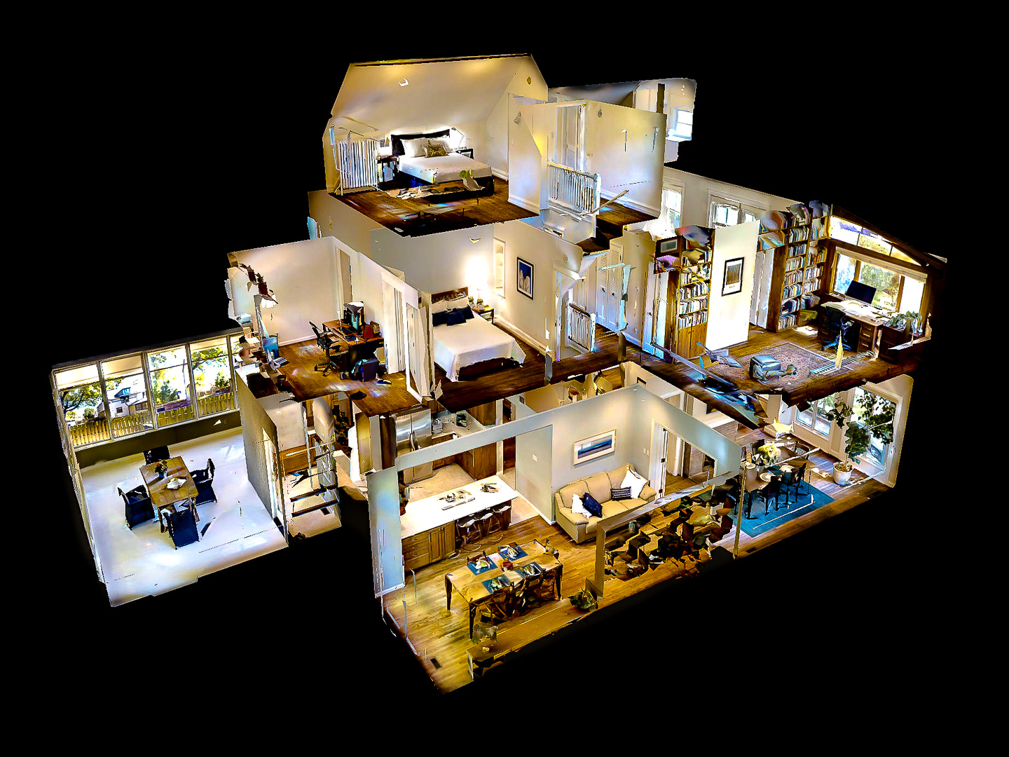 What we do - A Matterport Space is a complete, three-dimensional representation of a real-world location created from 2D (RGB) imagery and 3D data. A Matterport Space can be navigated on a desktop or mobile web browser, and in virtual reality through a Samsung Gear VR, Google Cardboard, or Google Daydream.Matterport Spaces create a complete 3D media ecosystem for businesses to leverage 3D models of real places for many purposes — property marketing, construction, facilities management, and news/entertainment.