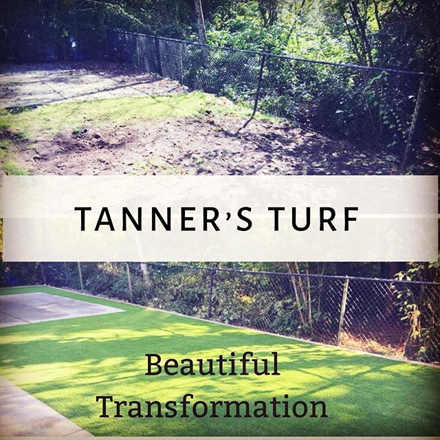Before and after #transformation #tannersturfservice #tanner365green #landscapedesign #envirnmentallyfriendly #tannersturfservice #installationturf #artificialgrass