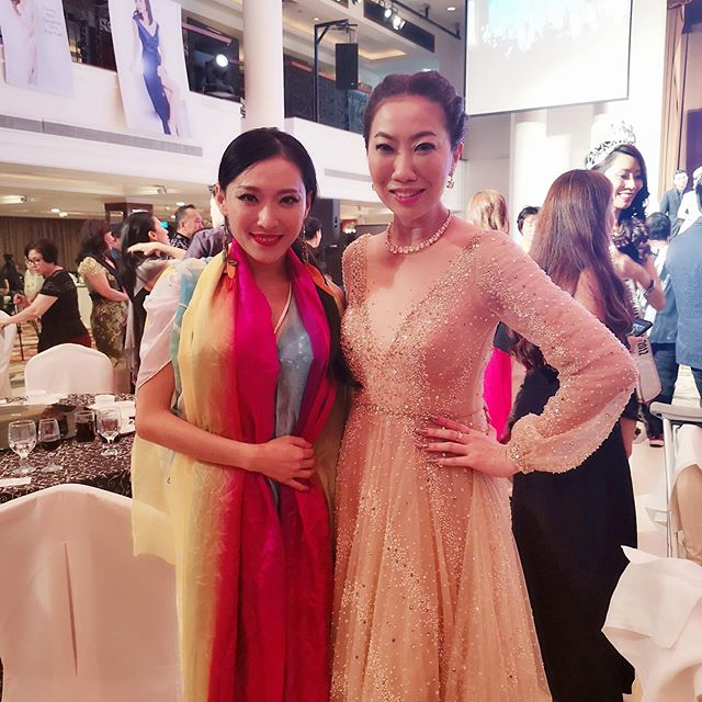 Our founder Sophia, such a pleasure to meet Singapore Celebrity Patricia Mok in Miss Singapore Event!