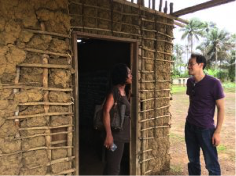Edward on a recent project exploration trip in Sierra Leone.