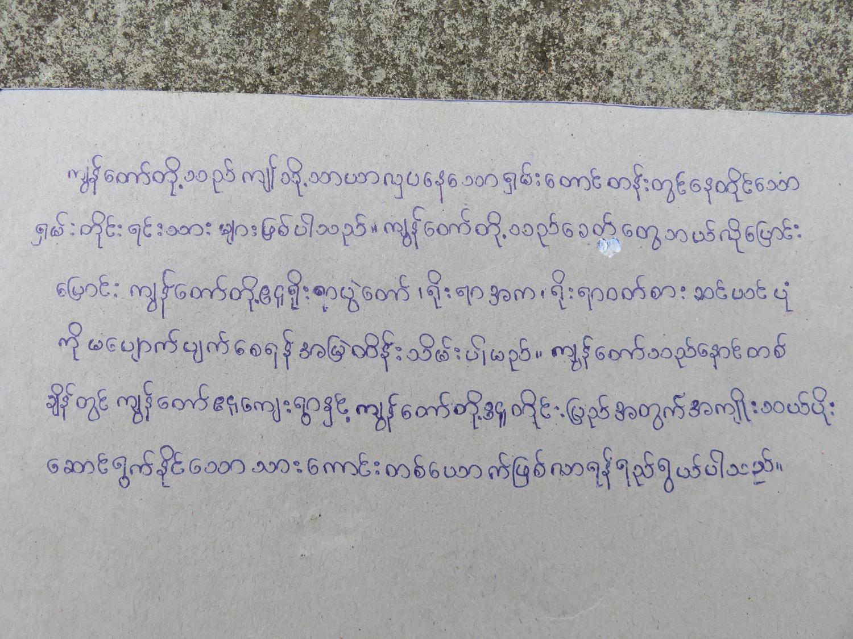 Mg Phyoe Nay Soe (10) - Paw Myar Primary School, Myanmar