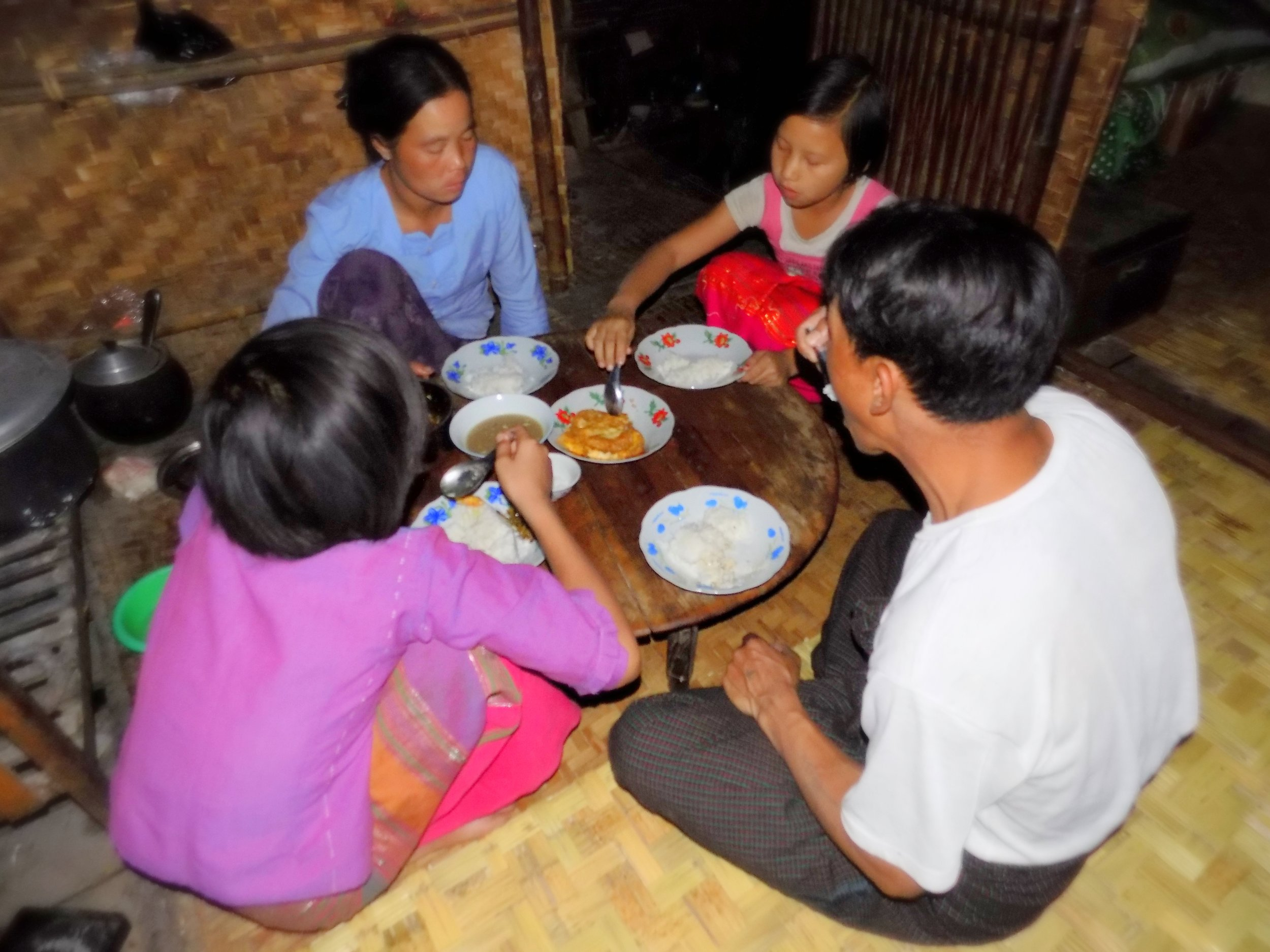 Nung Lao Ngun has four other people in her family: her mother, father, older sister, and younger brother.