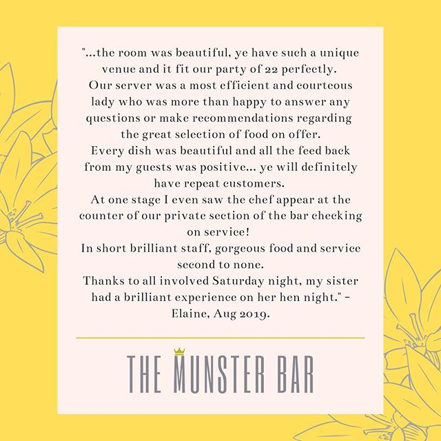 It's reviews like this that make it all worthwhile 💛 Thank you for taking the time to write this Elaine, we are so delighted that you were happy with your night. Edited for the sake of brevity 📝