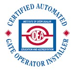 We have Certified Automated Gate Operator Installers and a Certified Automated Gate Systems Designer on staff.