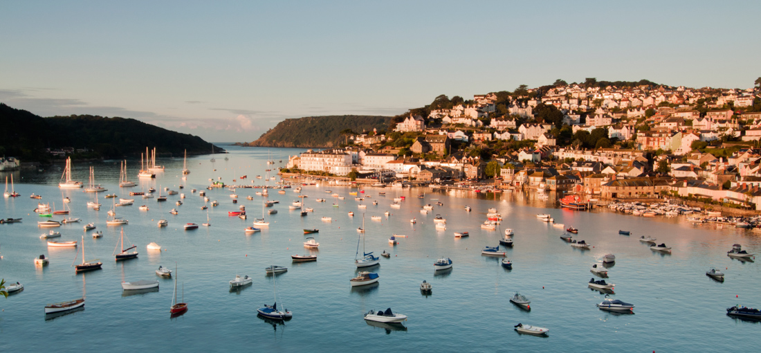 Sun-soaked and salty Salcombe