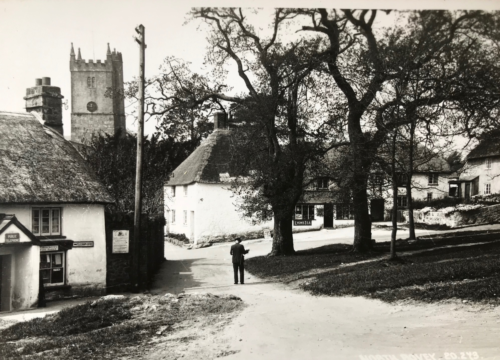 Then: North Bovey in the early 1900s.