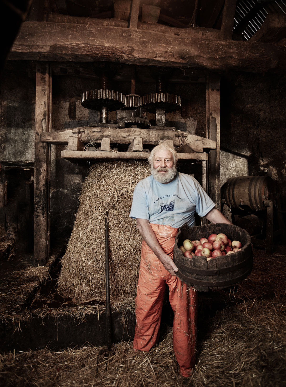 Ron Barter / Cider Maker / Dunsford - Ron produces up to 1500 gallons of cider using one of the UK's oldest working cider presses, in a barn that dates back to Saxon times. Ron offers one-hour tours, showing you around these characterful historic buildings and explain how cider is produced using his traditional press, pictured above. There will be a chance to look around the orchards, where old and rare apple varieties still grow, including the wonderfully-titled Fair Maids of Devon, Pigs' Snout and Slack-ma-Girdle. There'll also be a chance to taste his cider, but beware - it's strong!
