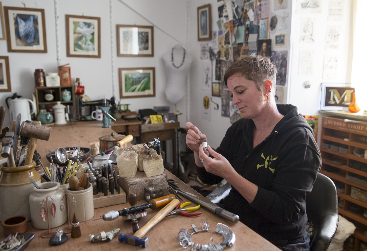 Miriam Boy / Jeweller / Chagford - Working from a cosy studio in the centre of the ancient stannary town of Chagford, Miriam makes silver jewellery using designs inspired by the moors and wildlife that surrounds her. Miriam is one of the few people in the UK to offer lovebirds the chance to design and make their own wedding rings