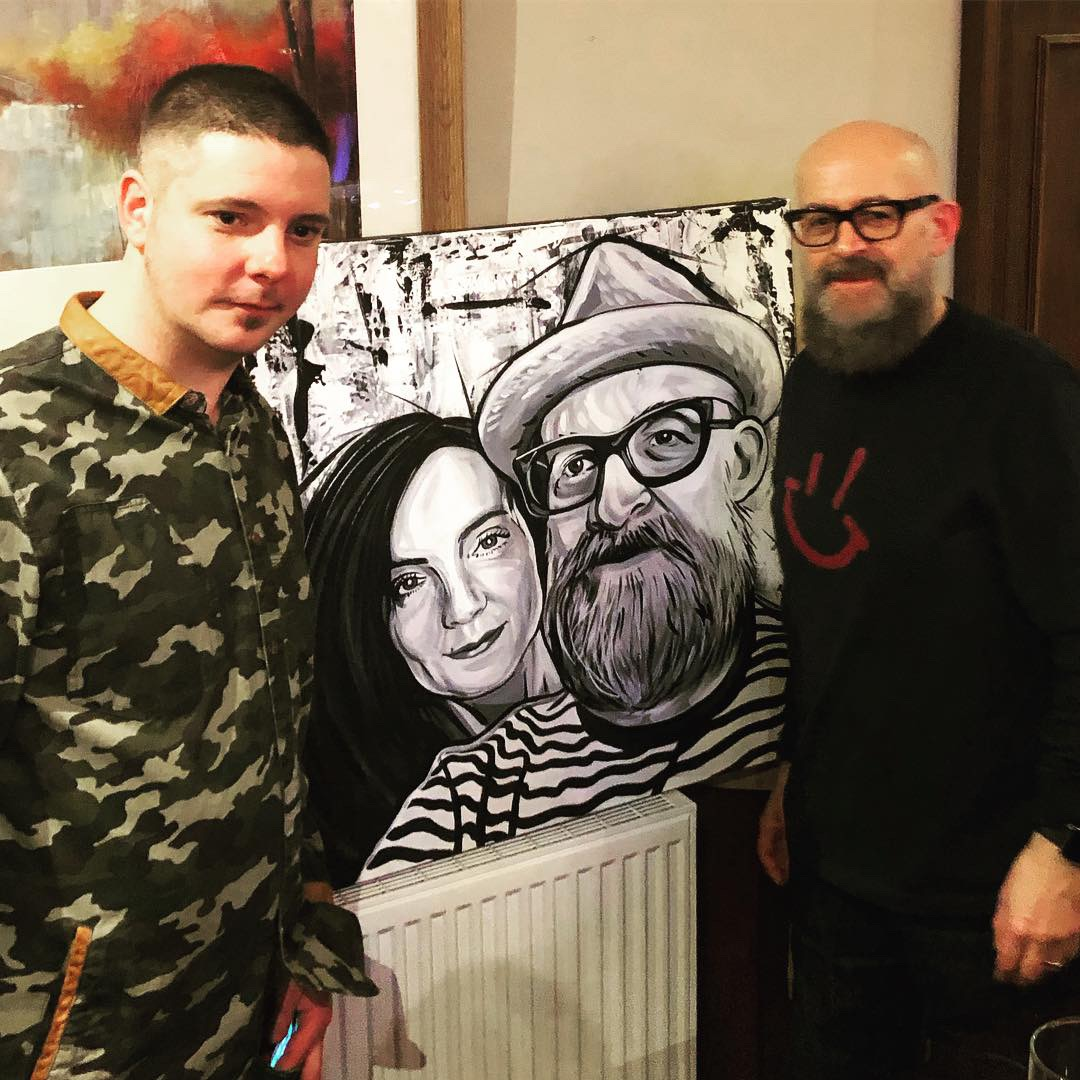 Fife artist Justin Robertson unveils his painting of me and my wife Jenny