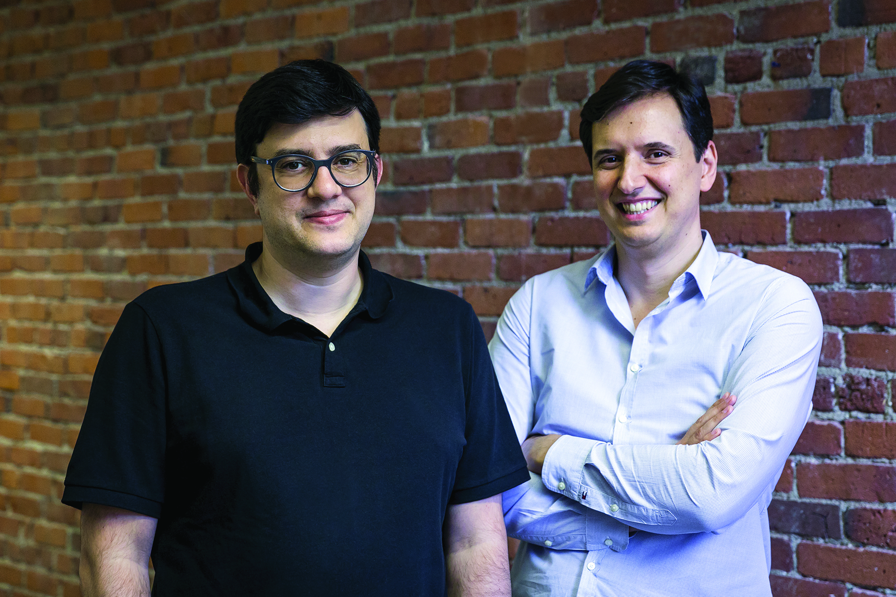 Founders of Workable, Nikos and Spyros.