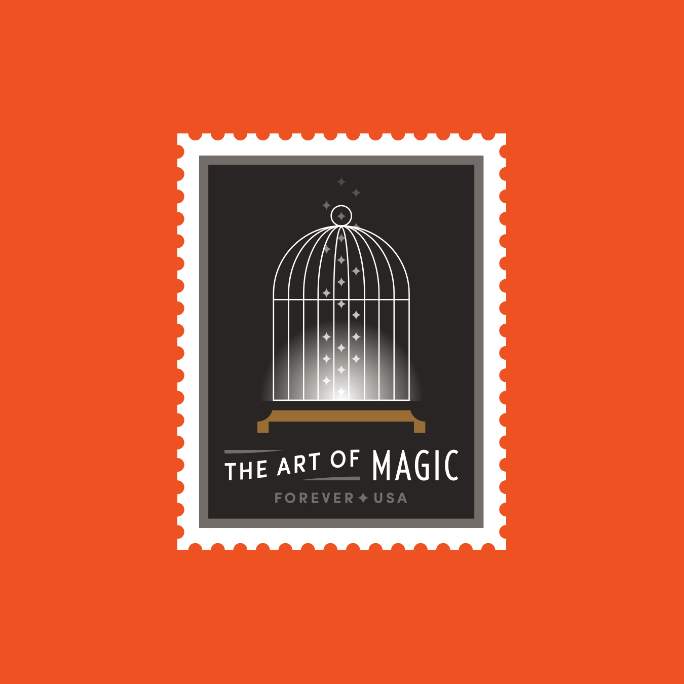 The Art of Magic Bird Cage Stamp