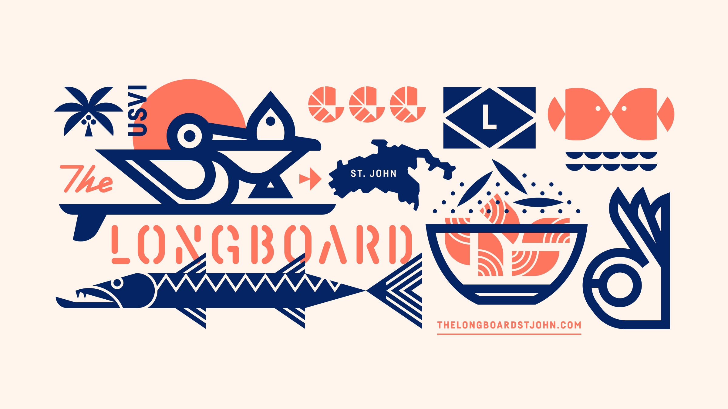 The Longboard Pelican, Flag, Barracuda, and Poké is OK