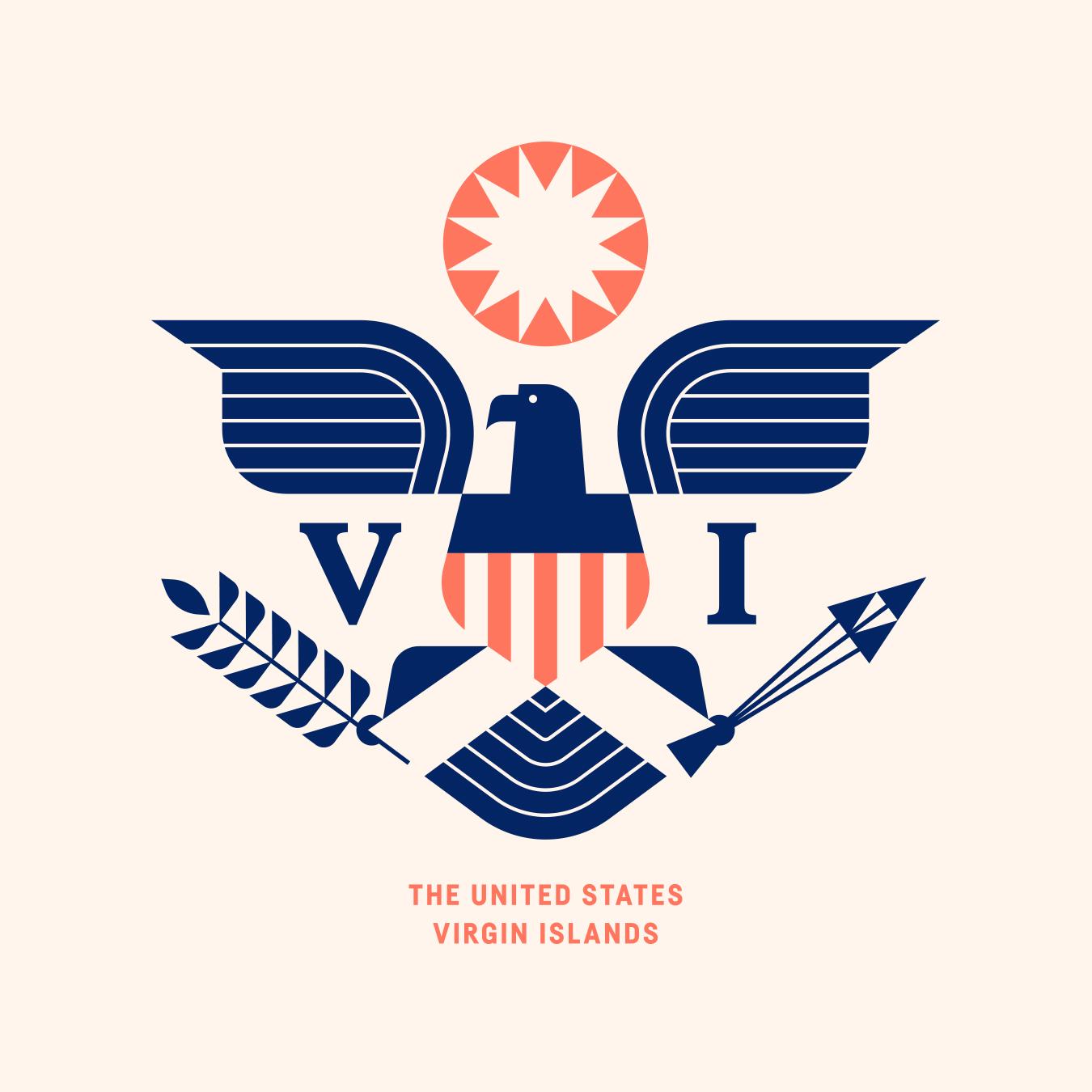 United States Virgin Islands Eagle Flag