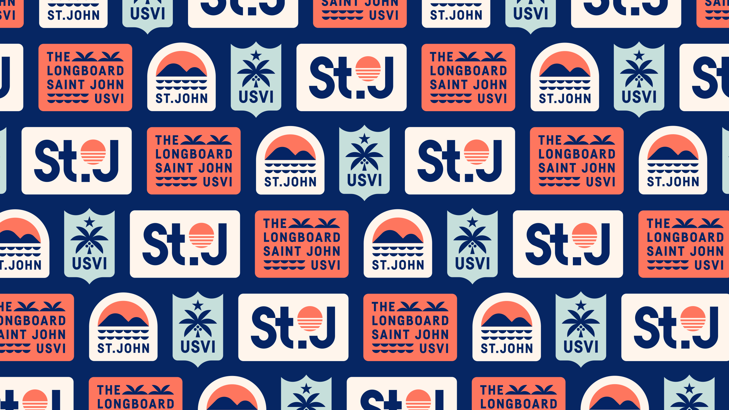 The Longboard Saint John USVI Stickers