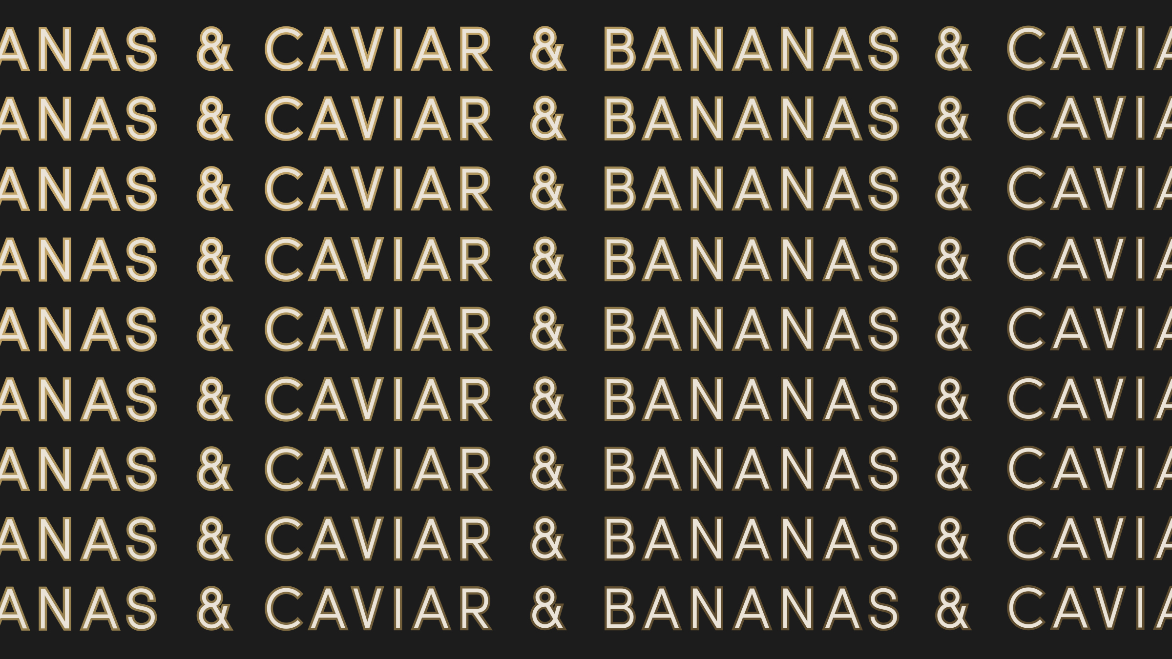 Caviar & Bananas Repeated Logo