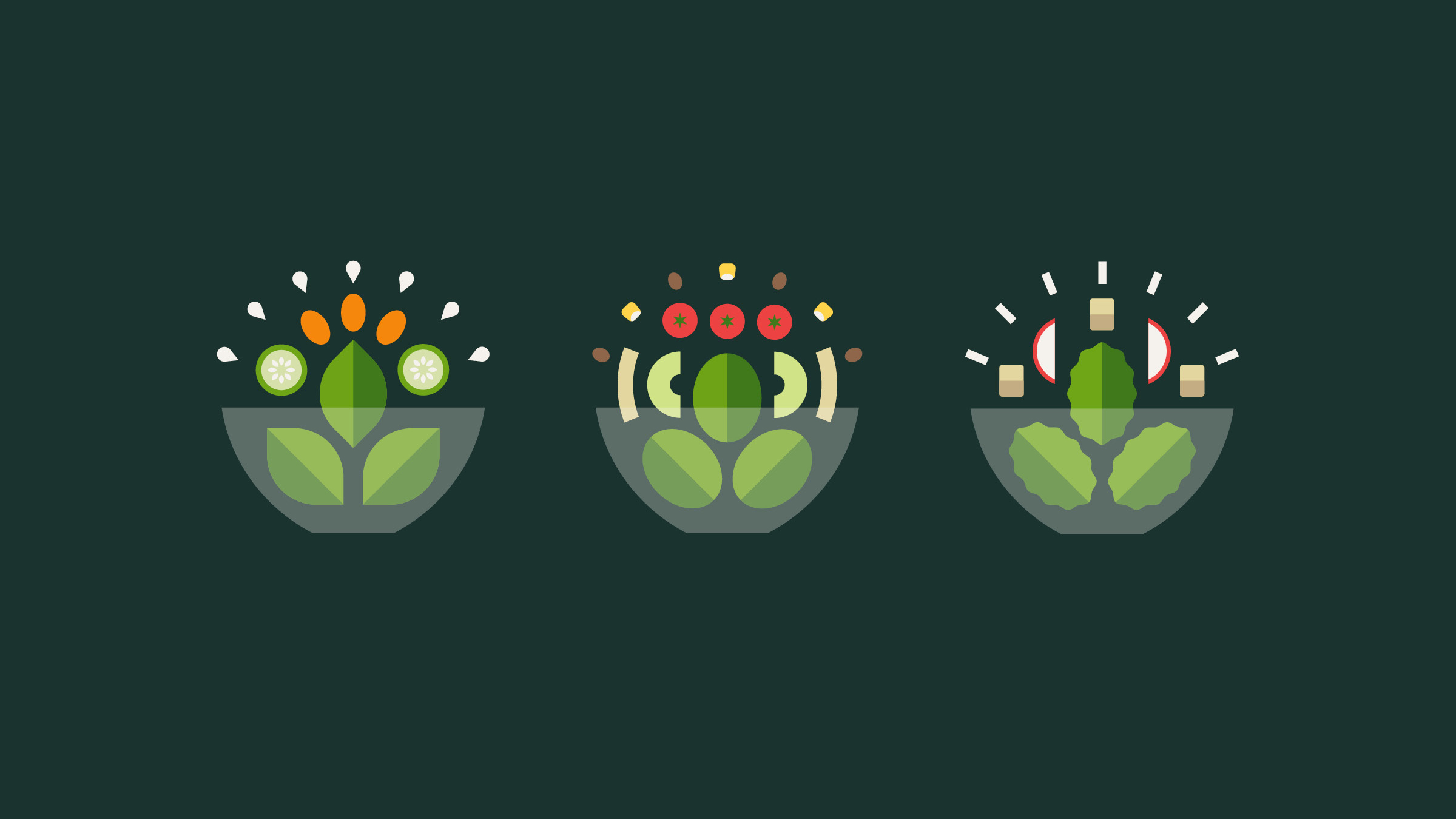Verde Salad Restaurant Bowl Illustrations