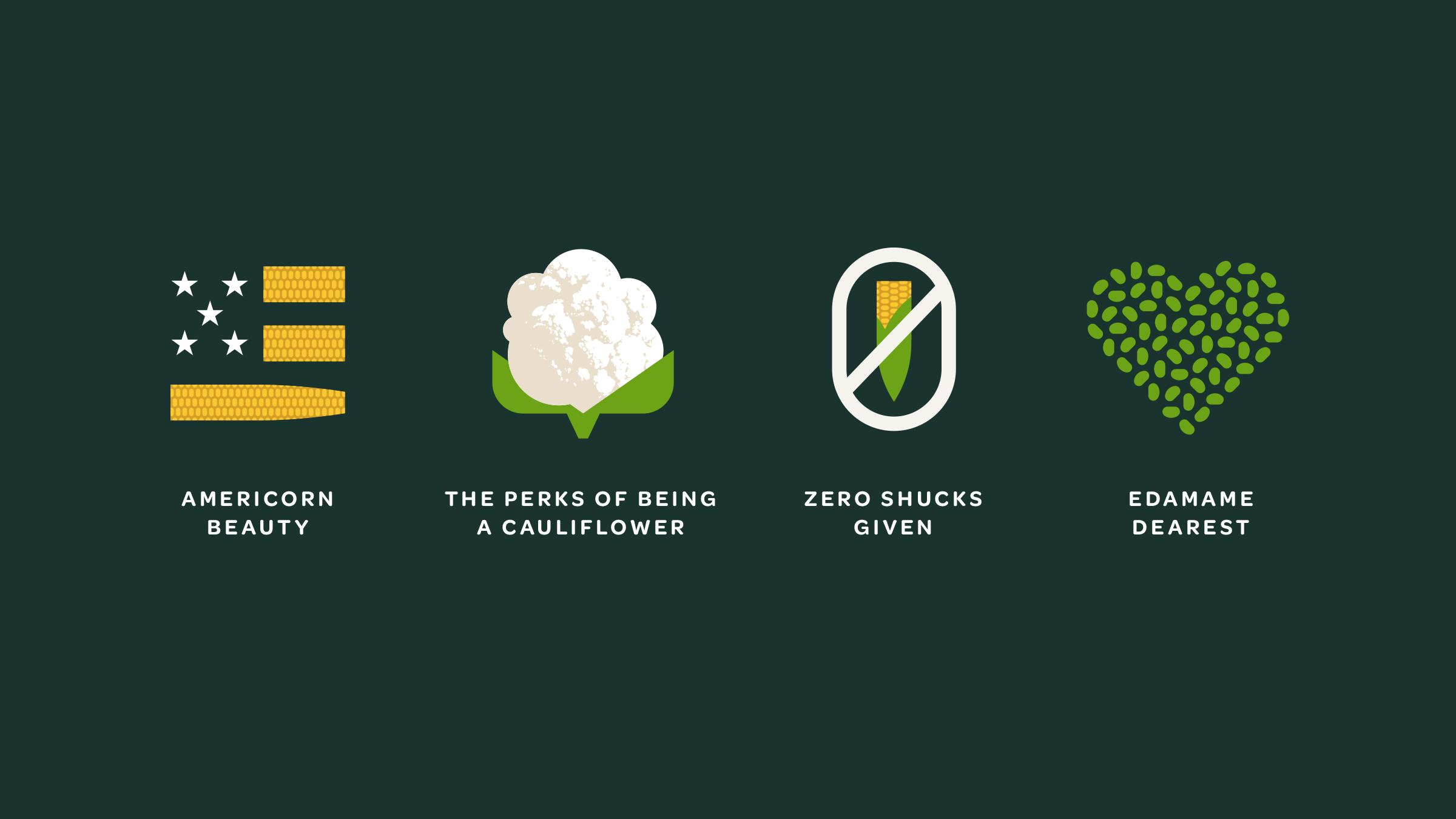 Verde Salad Restaurant Pun Illustrations