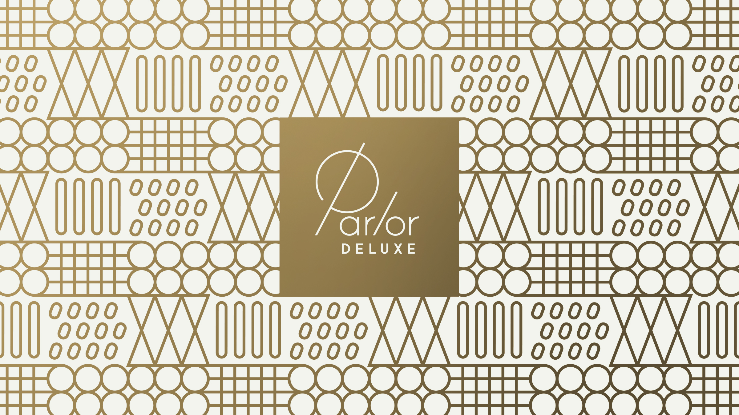 Parlor Deluxe Logo and Line Pattern