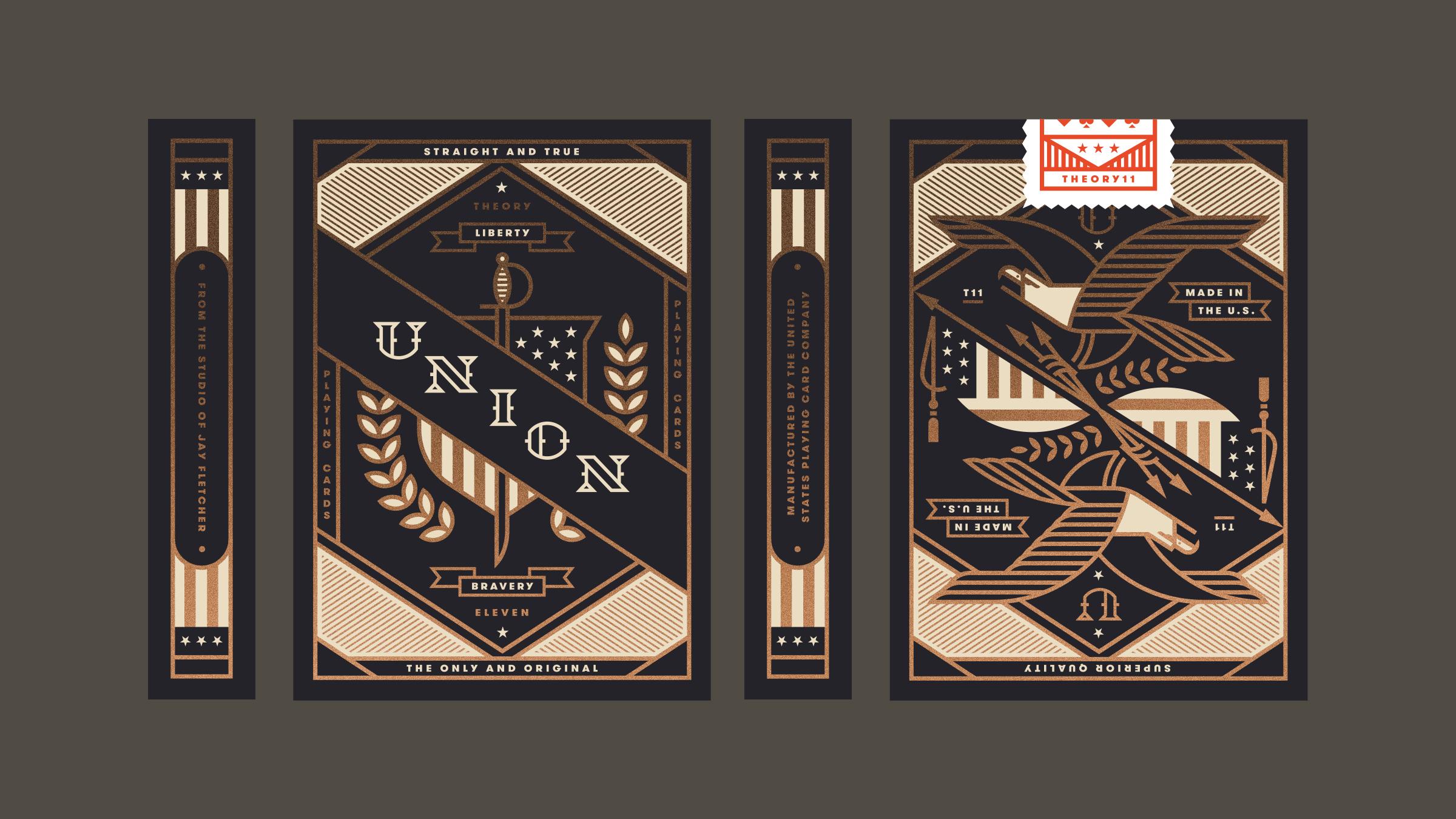 Union Playing Card Americana Box Design