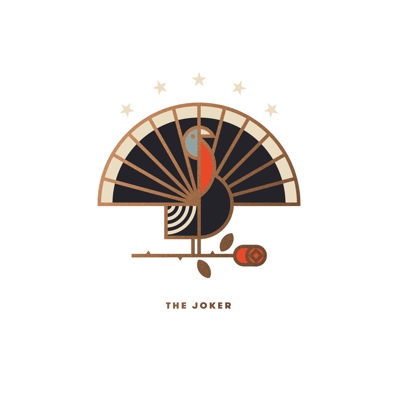 Union Playing Card Joker Turkey Illustration