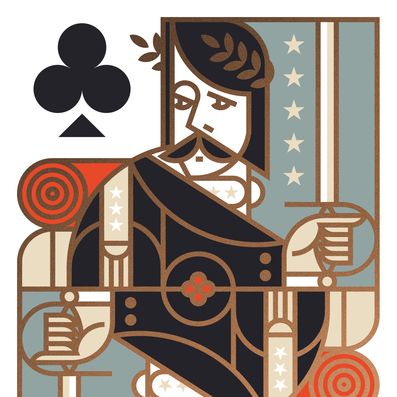 Union Playing Card King of Clubs Illustration