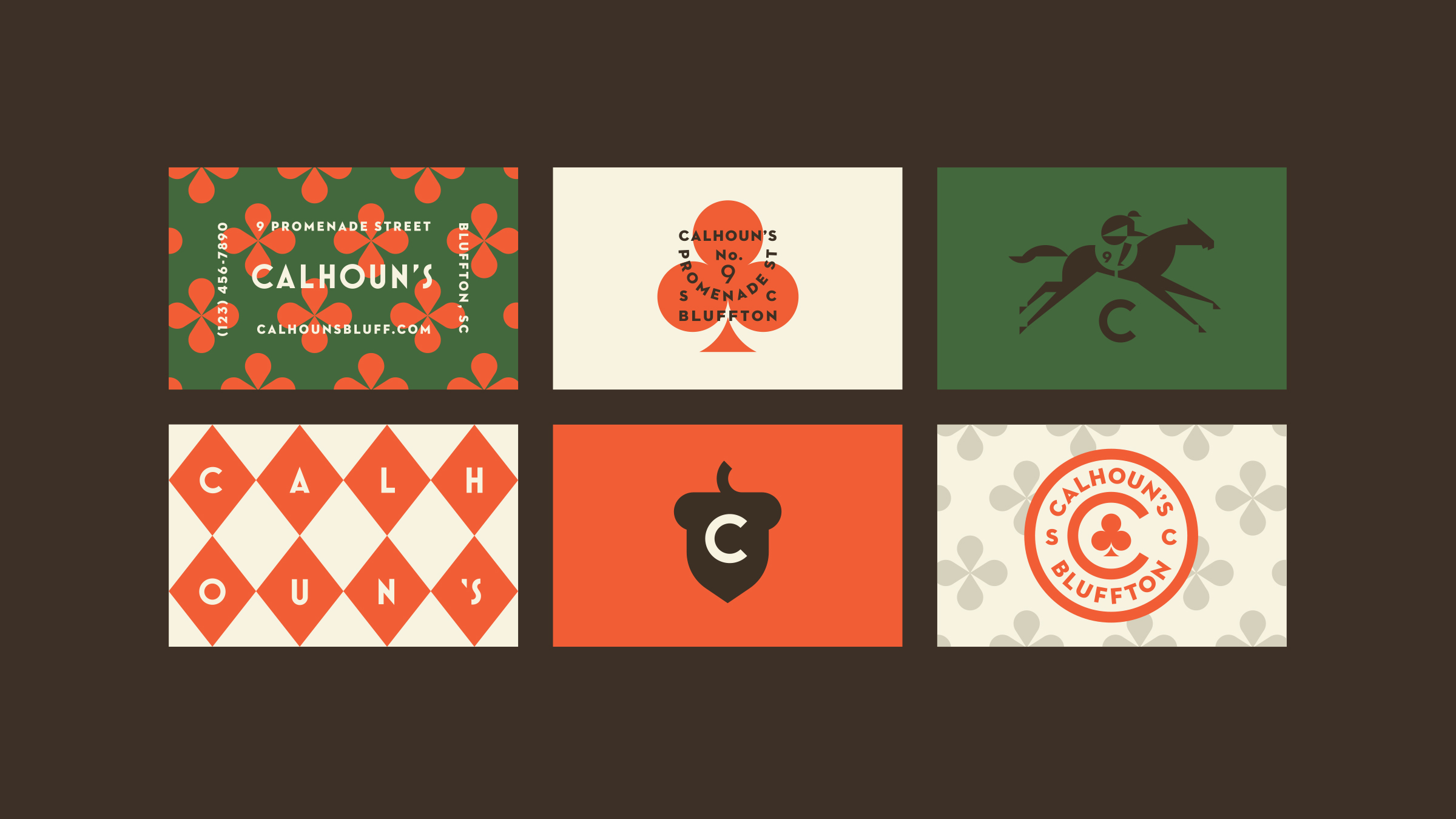 Calhoun's Bluffton Business Card Designs