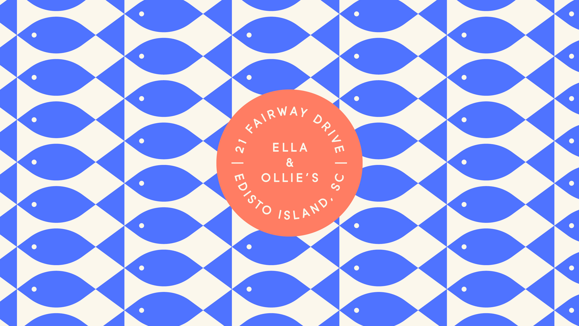 Ella & Ollie's Logo and Fish Pattern