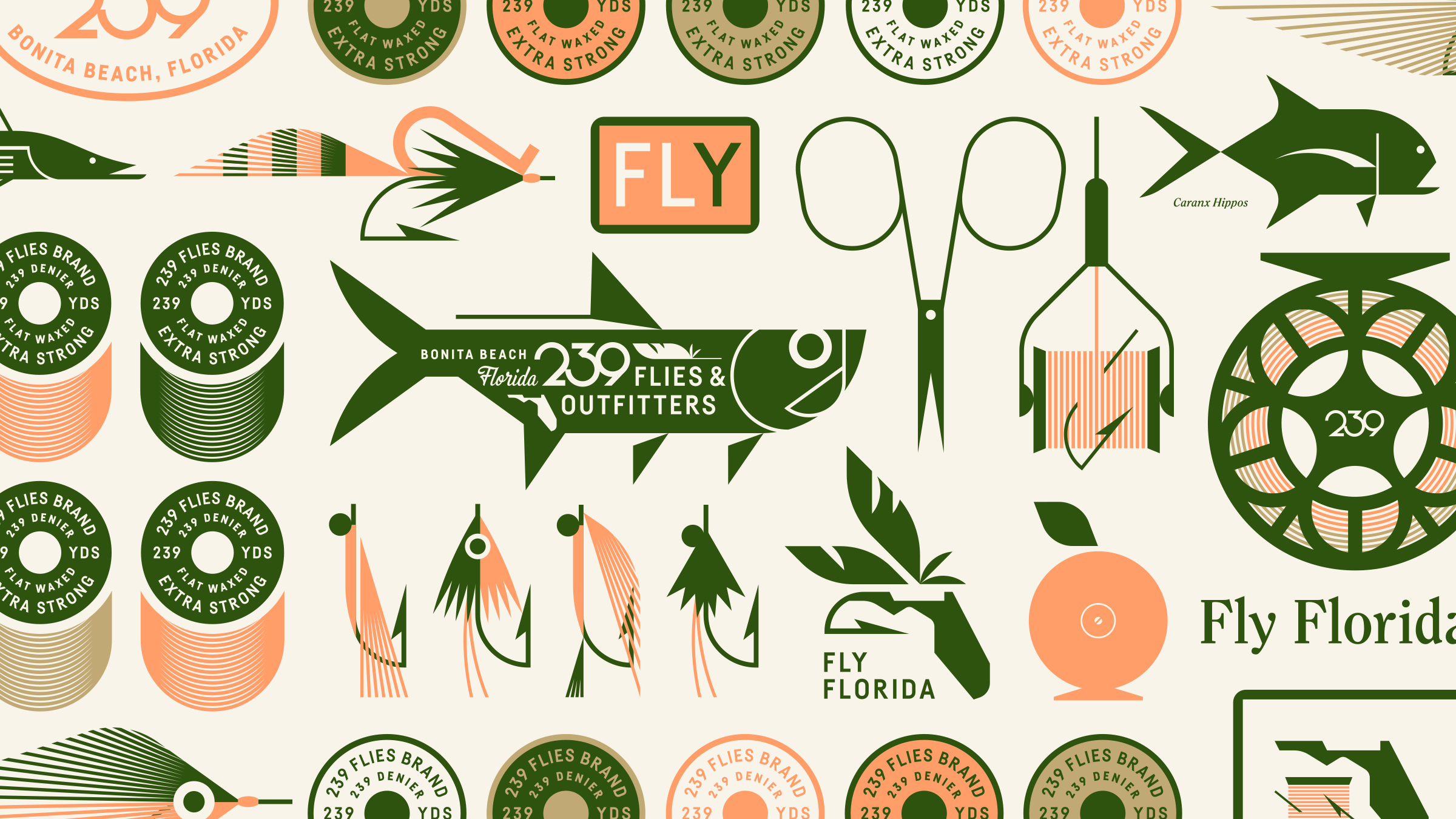 239 Flies Logo and Brand Identity Design
