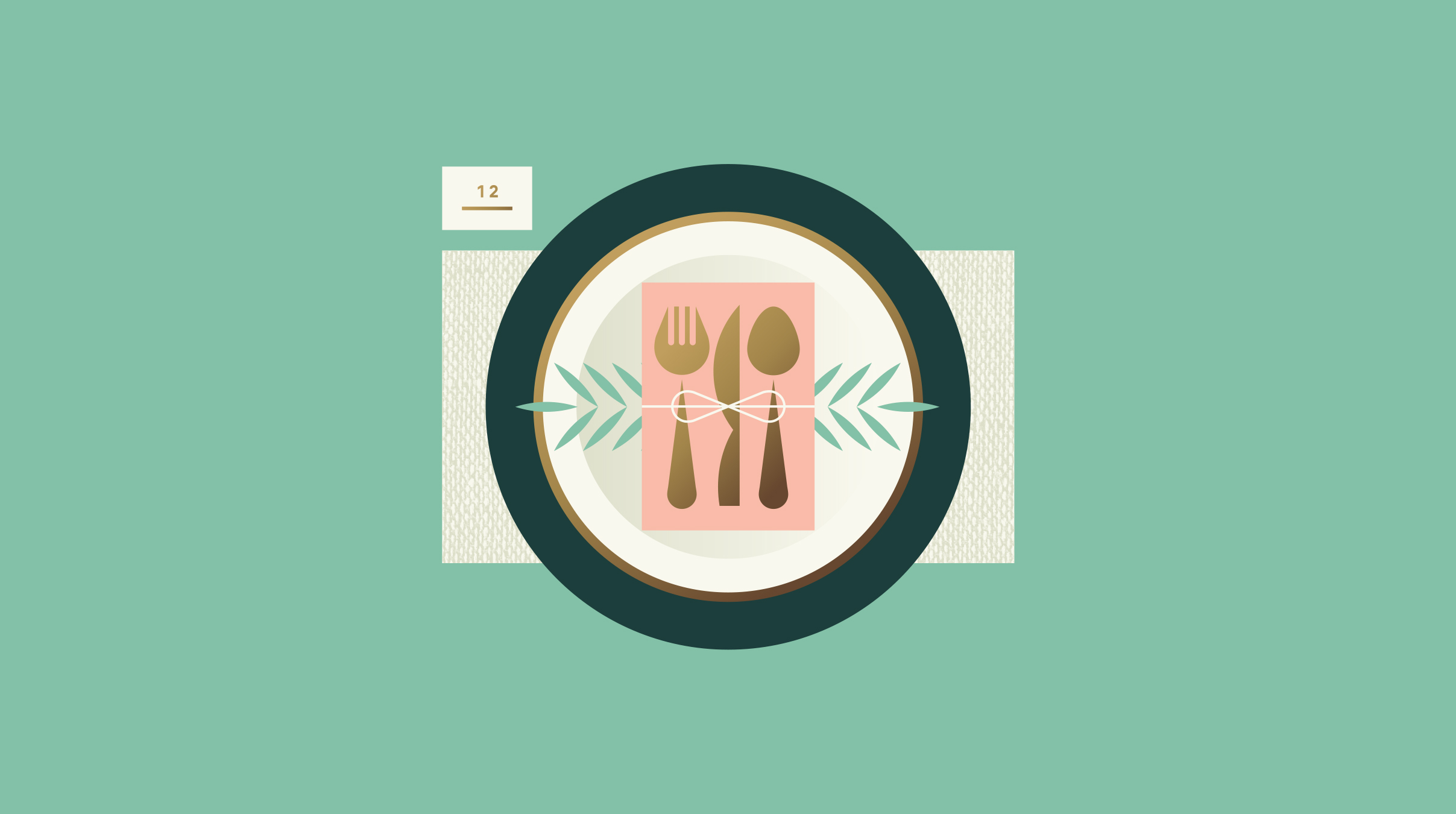 Wedding Place Setting Illustration