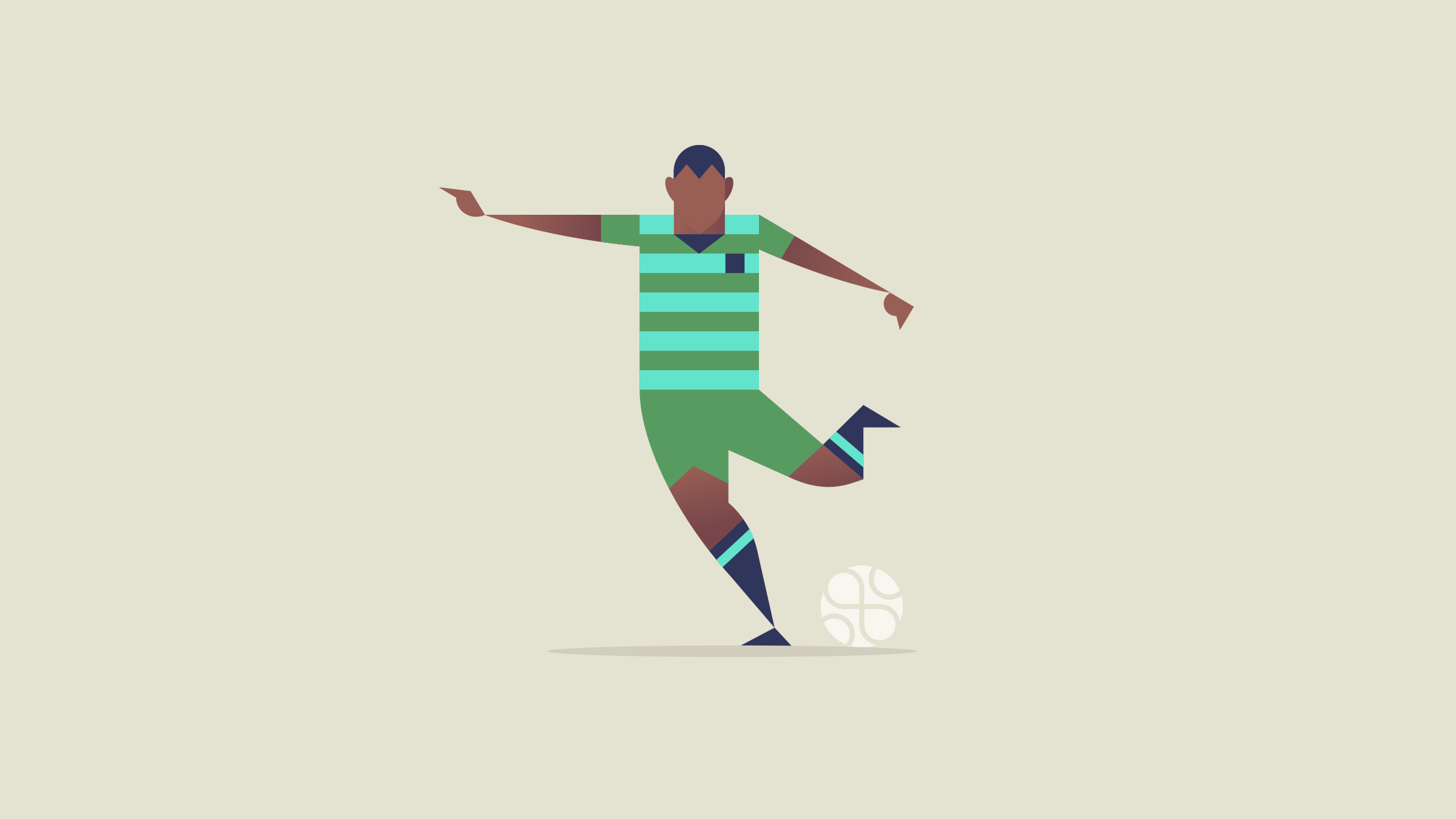 Apple Soccer Football Illustration