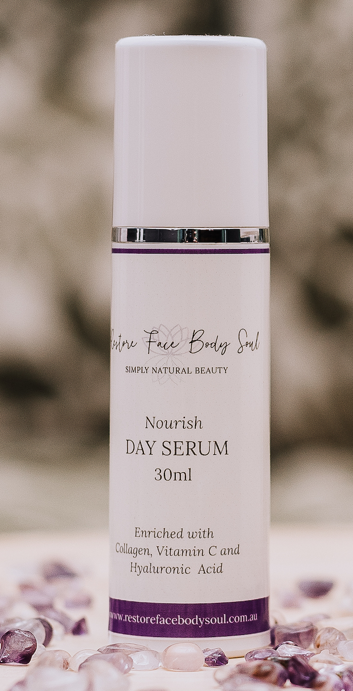 With daily use this new and proven Nourish Day Serum will solve the problem of dehydrated and tight skin forever.