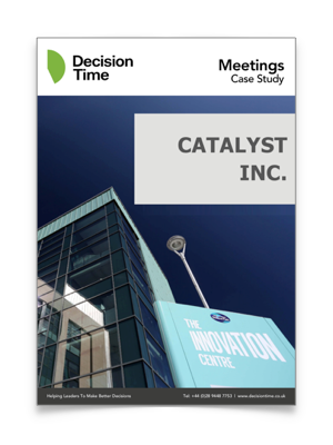Case Study - Read how Catalyst used Decision Time to enhance their boardroom experience, providing the process improvements they sought, while also meeting their budgetary expectations.