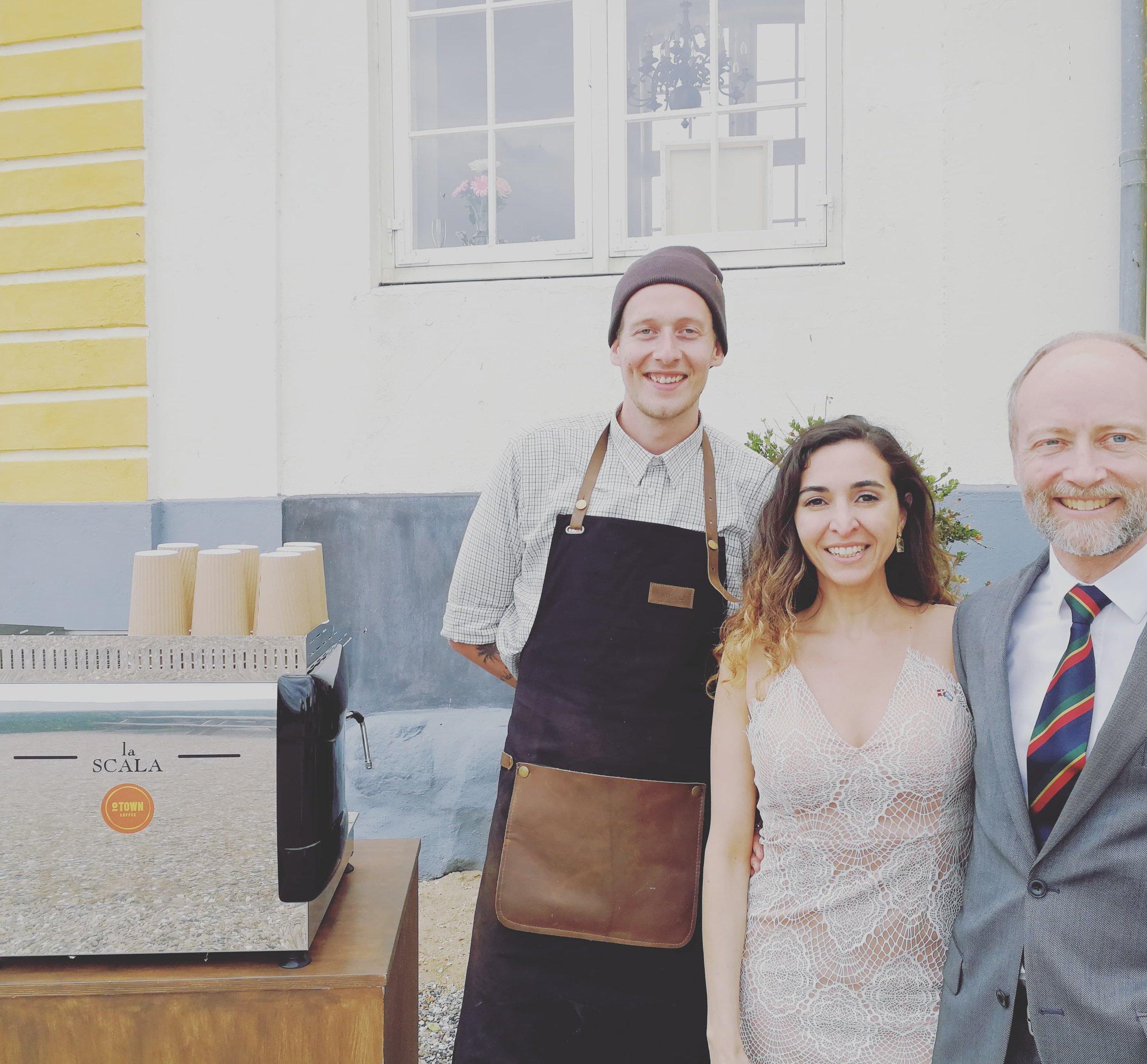 Mobil kaffebar til PHD fest på Tåsinge