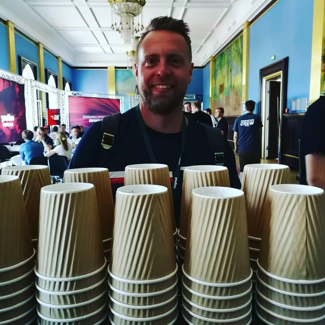Mobil kaffebar til DM i Gameing på Odense Rådhus