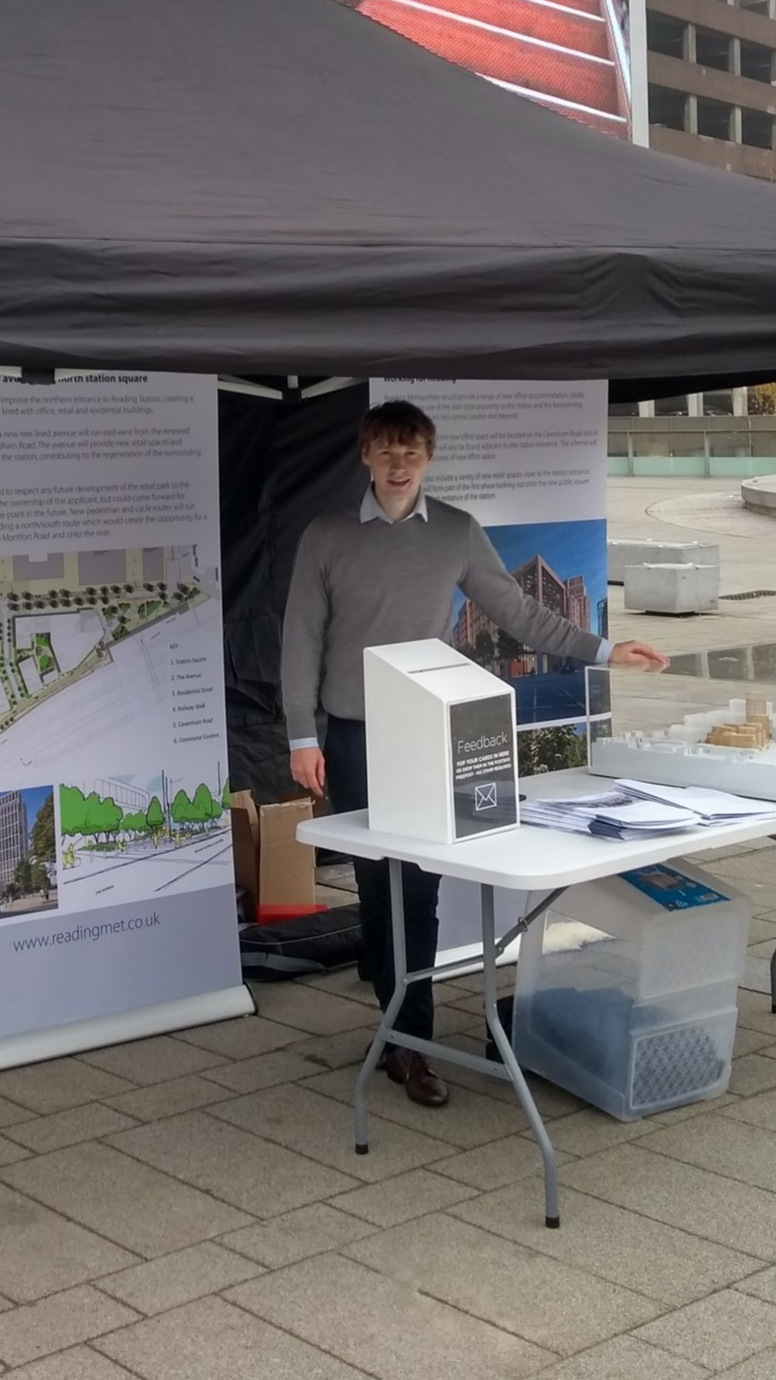 Joseph Palasz heading up our pop-up consultation outside Reading Station.