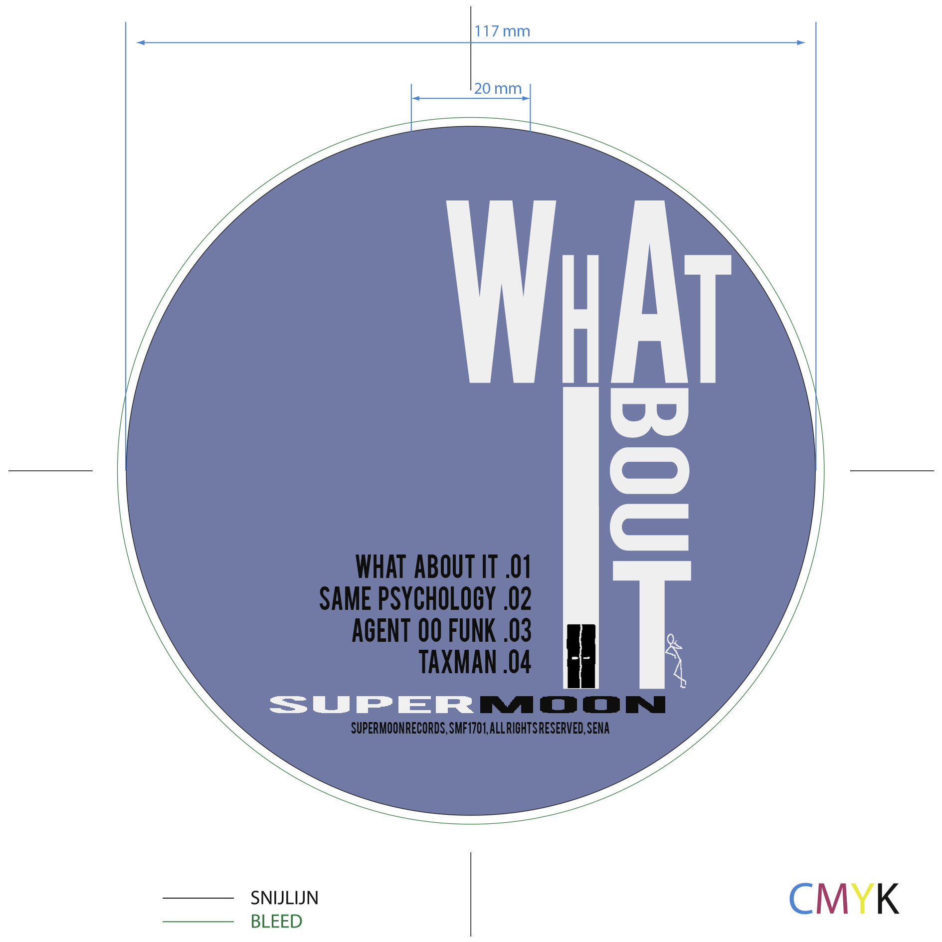 "Supermoon - Artwork & Lay-out EP : ""What About It"""